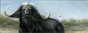 African cape buffalo by American wildlife artist Larry K. Martin