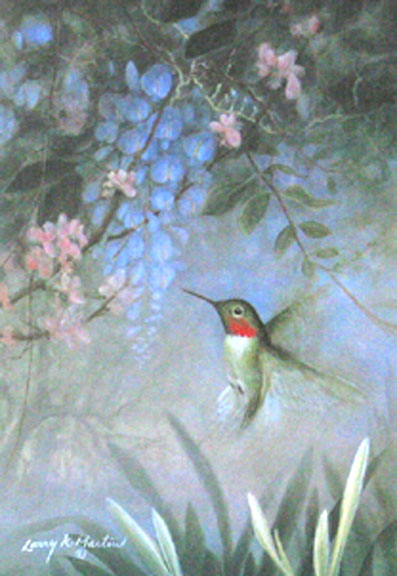 """Cahaba Jewel"" hummingbird by American wildlife artist Larry K. Martin"