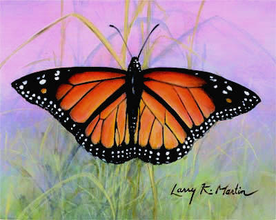 """Monarch"" by American wildlife artist Larry K. Martin"