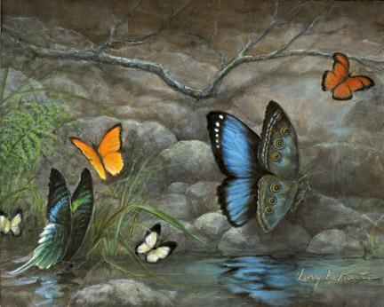 """Jewels of the Amazon"" by American wildlife artist Larry K. Martin"